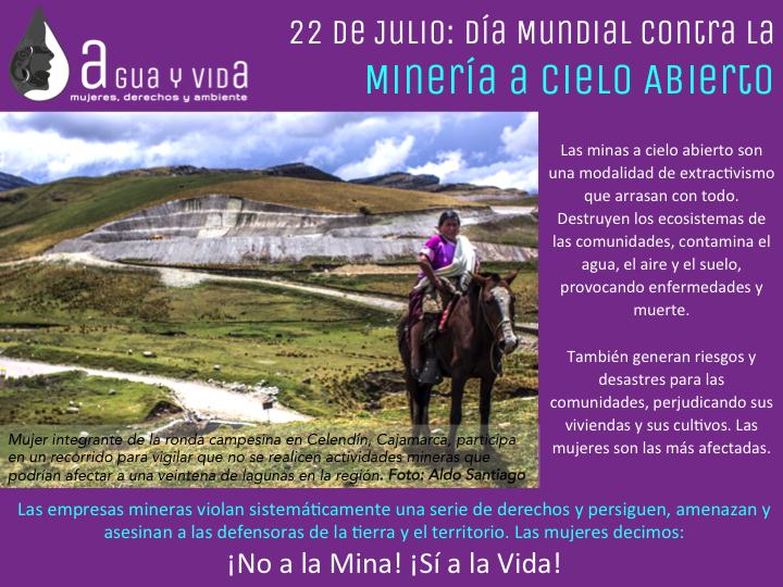 22 de Julio: Día Mundial Contra la Minería a Cielo Abierto