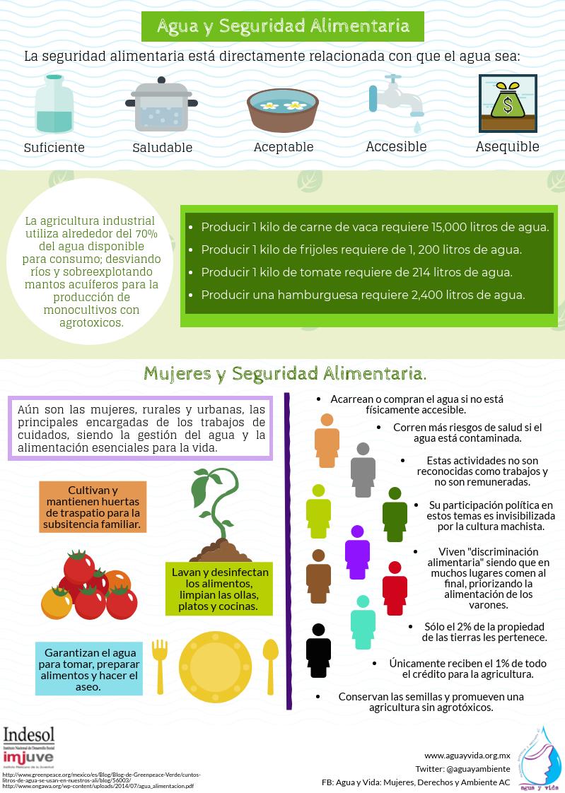 Infografía Agua y Seguridad Alimentaria